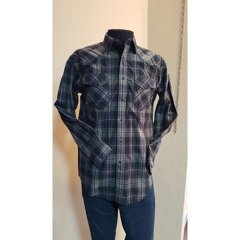 Camicia western uomo Panhandle Rough stock Fine serie Cod stepanhvng